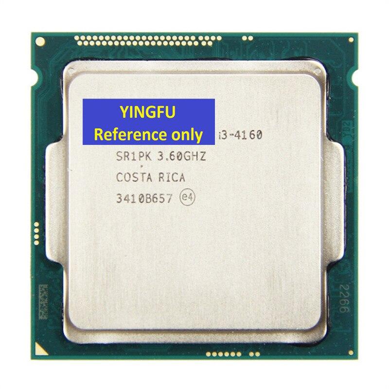 CPU i3-4160 SR1PK LGA1150 CPU Processor 3.6GHz Dual-Cores 3M cache 54W I3-4160 Tested 100% workingCPU i3-4160 SR1PK LGA1150 CPU Processor 3.6GHz Dual-Cores 3M cache 54W I3-4160 Tested 100% working