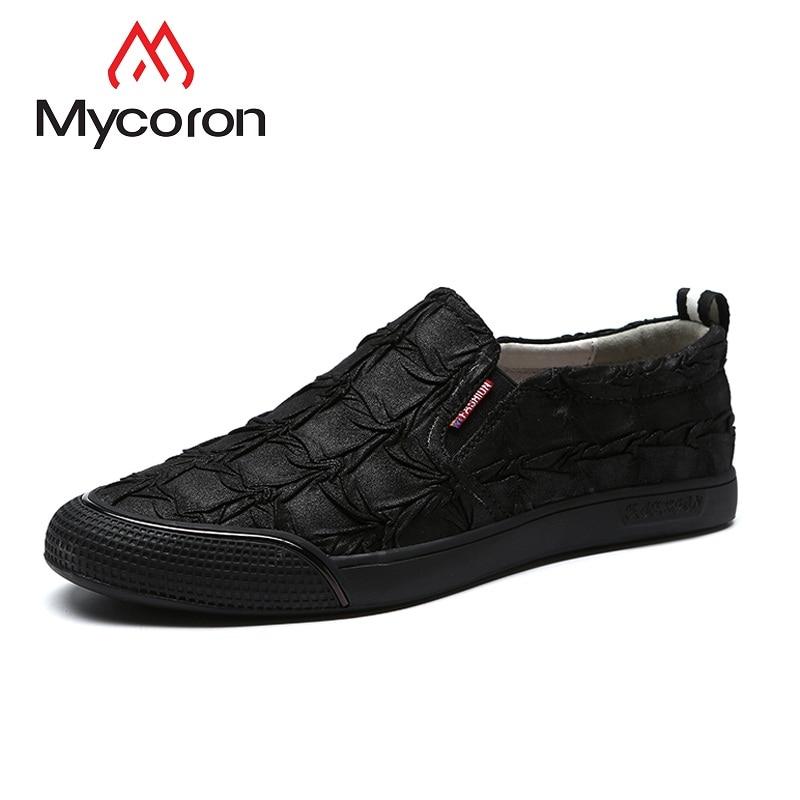 Hombre De Loafers Homens Nova Dos Marca Deslizamento Em Casuais Primavera Outono Respirável E Sapatos Moda Mycoron Calzado Preto Sneakers w1qSTx