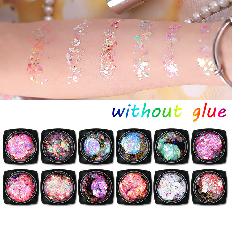 Beauty & Health Energetic Handaiyan Face Body Mermaid Glitter Gel Eye Shadow Shiny Highlight Eyeshadow Shimmer Gel Musical Festival Stage Makeup