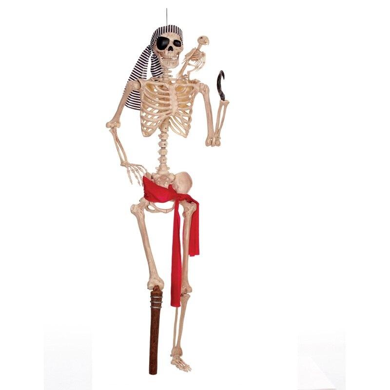 Moquerry Pirate squelettes crâne Halloween 1:1 squelette humain corps accessoires pour la meilleure fête à la maison Halloween décoration
