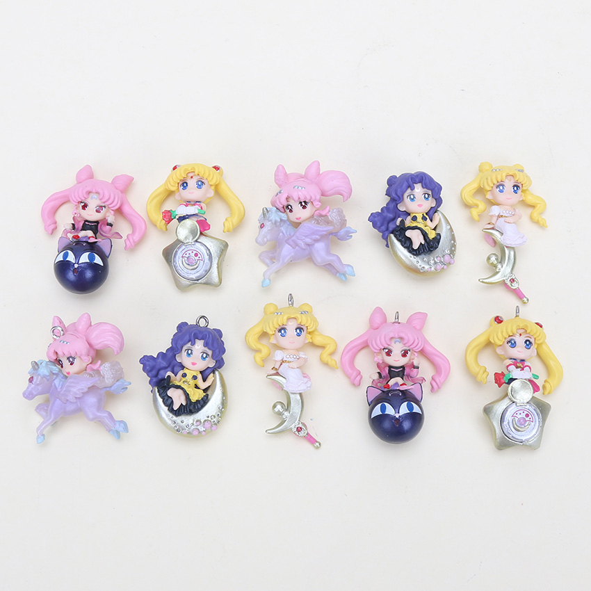 Mini Toys Dolls Collectible Pvc-Figures Twinkle-Dolly Sailor-Moon Anime Children Model