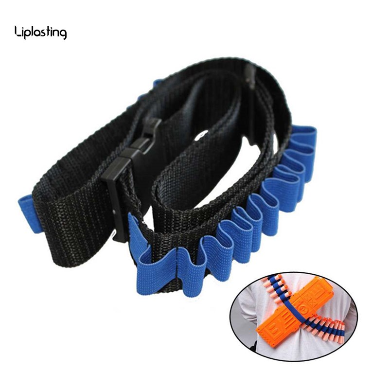 Синие детские игрушечный пистолет пуля плечевой ремень Дартс боеприпасы хранения держатель для nerf нерф орбиз пистолет пневматический