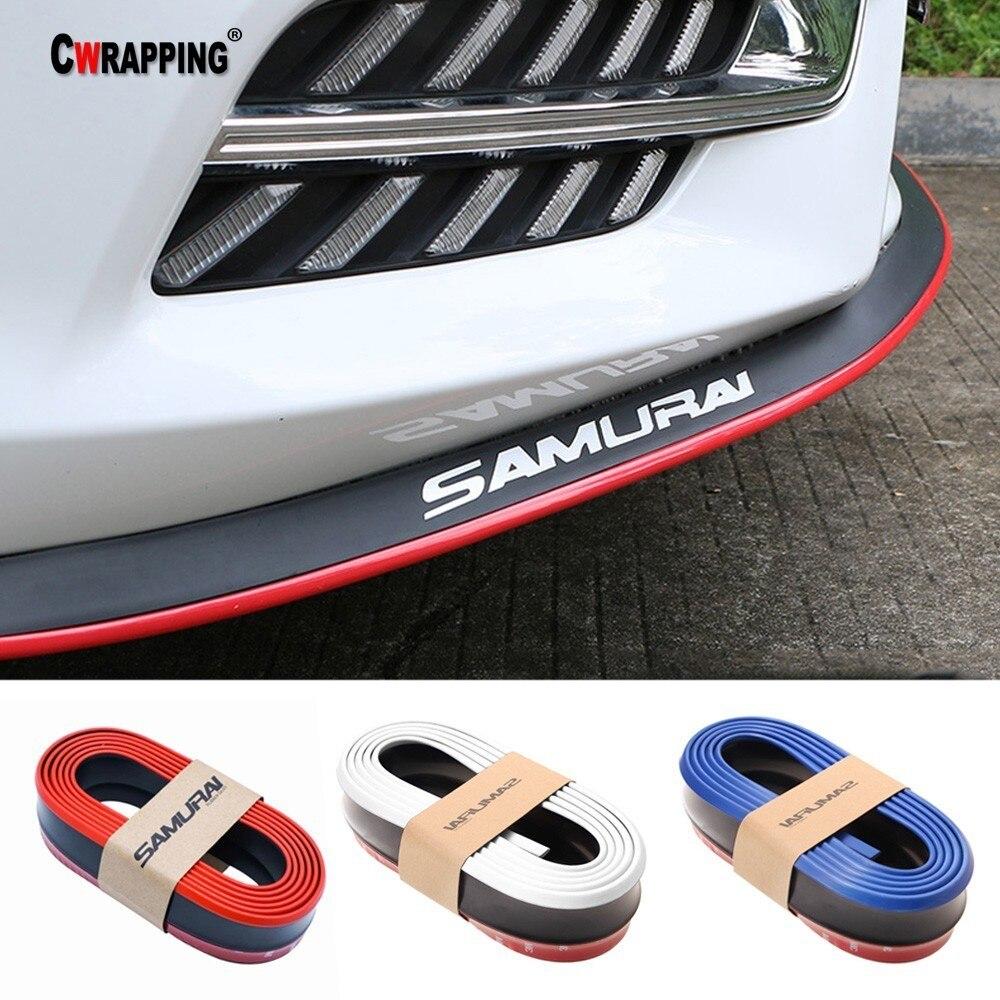 Car Front Bumper Lip Splitter Body Spoiler Skirt Valance Chin Rubber Protector