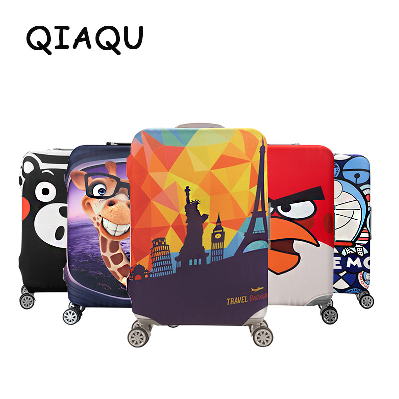 QIAQU Brand Travel Thicken Elastic Color Luggage Suitcase Protective Cover, Apply To 18-32inch Cases, Travel Accessories 2017(China)
