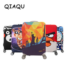 QIAQU брендовый дорожный утолщенный эластичный цветной защитный чехол для чемодана, подходит для 18-32 дюймовых чехлов, аксессуары для путешествий