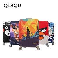 QIAQU бренд путешествия утолщаются Эластичный цвет чемодан защитный чехол, применяются к 18-32 дюймовым чехлам, аксессуары для путешествий 2017
