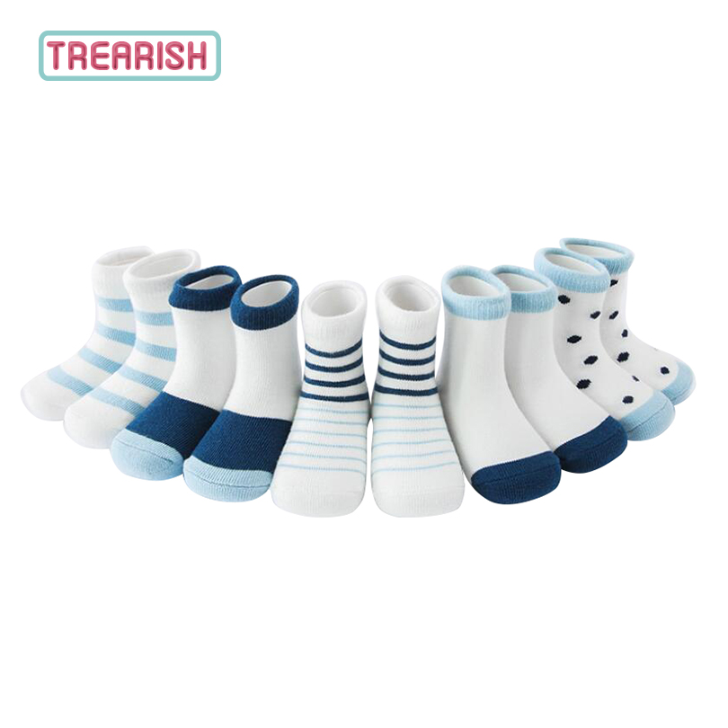 5 pair/lot Short Cotton Socks Baby Boys Girl Newborn Summer Spring Infant Sock Cheap High Quality New Style 2018 TREARISH ...