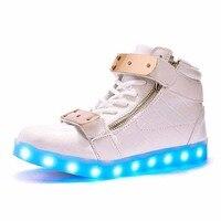 도매 싼 조명 led 발광 캐주얼 신발 높은 빛나는 충전 시뮬레이션 유일한 여성 및 남성 성인 네온 바구