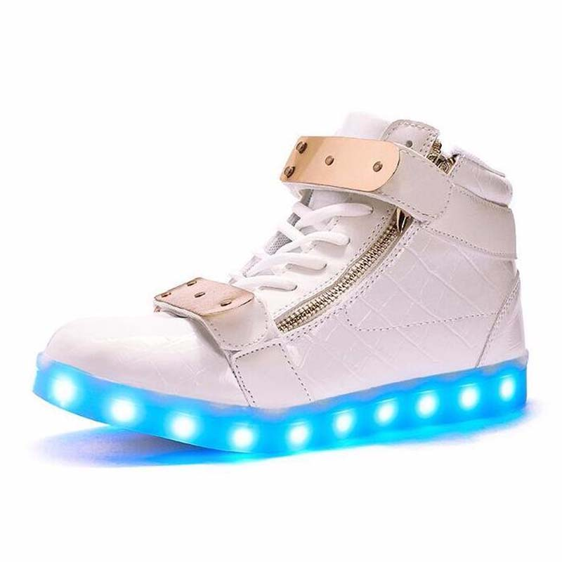 wholesale cheap lights up led luminous casual shoes high glowing with charge simulation sole for women & men adults neon basket led girls shoes shined tenis led infantil luminous kids light up boys shoes glowing sneakers lights shining shoes usb charge
