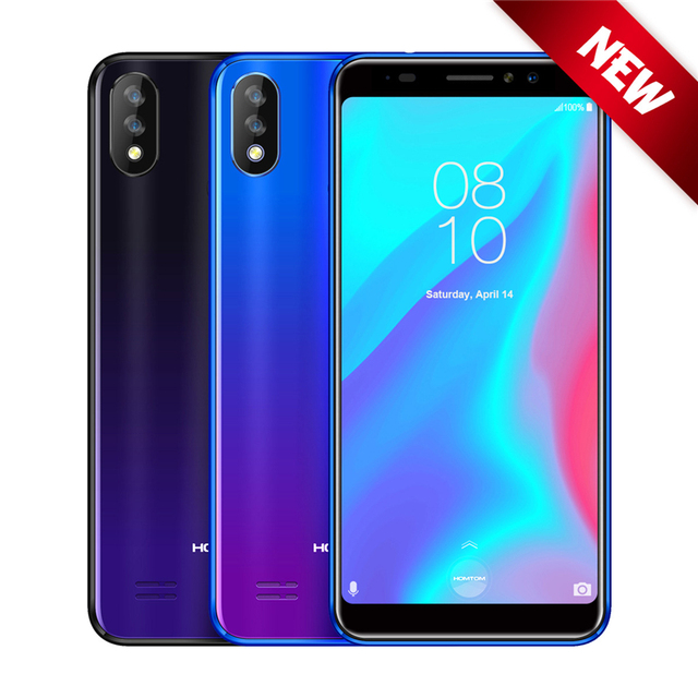 Homtom C8 Face ID 5.5'' 18:9 Quad Core Smartphone Android 8.1 2GB RAM 16GB ROM 3000mAh Battery Fingerprint 4G LTE Cell phone