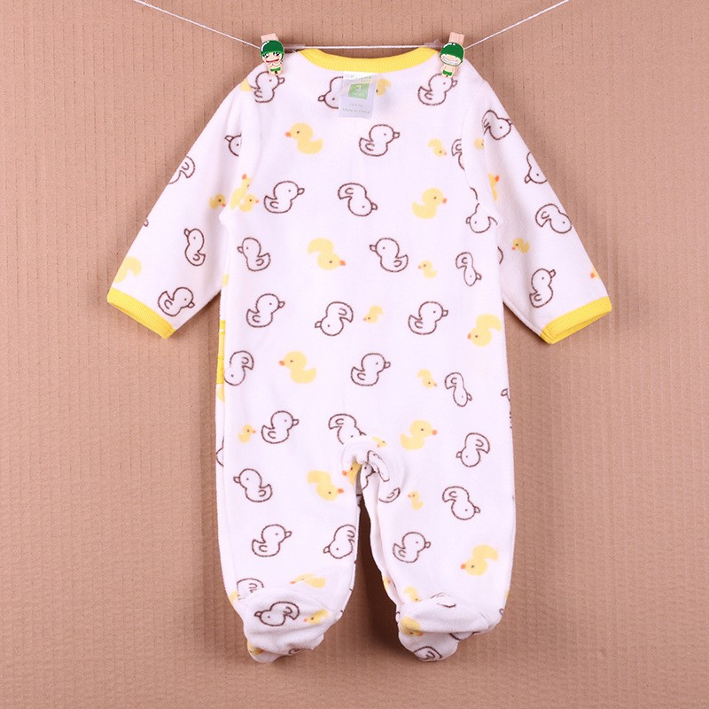 New Arrival Baby Footies Boys&Girls Jumpsuits Spring Autumn Clothes Warm Cotton Baby Footies Fleece Baby Clothing Free Shipping (12)