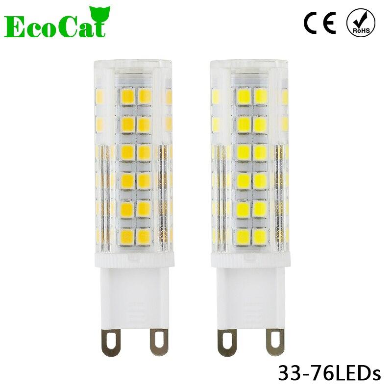 ECO CAT 2017 New G9 LED 2835 SMD 3W 5W 7w 220v 33LEDs 51LEDs 76LEDs Lamp Ceramic Crystal LED Bulb Spotlight for Chandelier samura eco ceramic skc 004b
