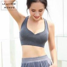 Женский бюстгальтер для йоги с вырезами Женская Спортивная одежда