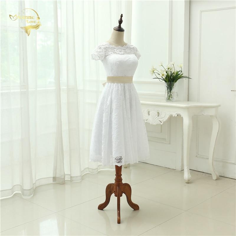 Klassisk Se genom Vestido De Noiva En Linjeklänning De Mariage Te - Bröllopsklänningar - Foto 4