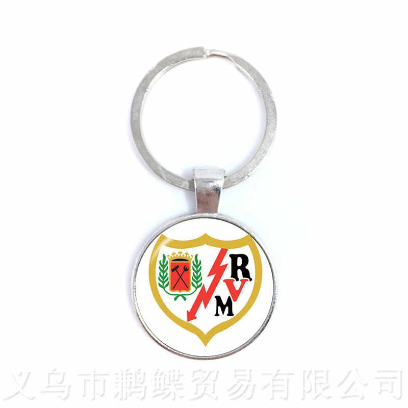 Fan Supplies 2018 New Glass Dome Football Club Keychain  Barcelona Logo Gift Keyring Pendant For Football Funs