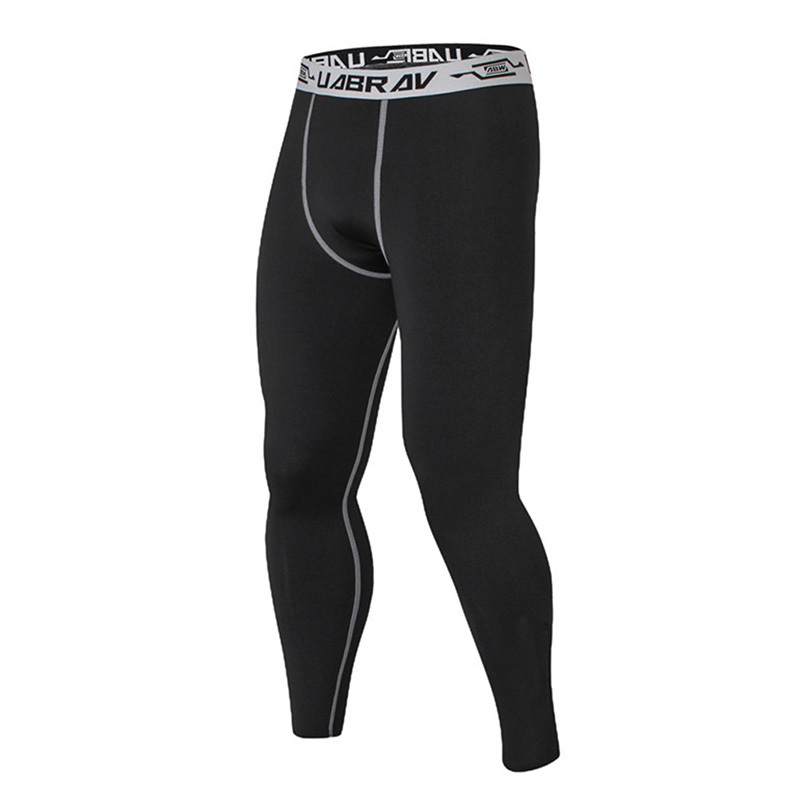 Mens Compression Pants Quick Dry Skinny Leggings Tights Fitness Pants Stitching Tousers
