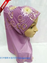 The autumn of October the new muslim hijab scarf Handmade Beaded Flower Beaded paragraph two paragraph