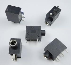100 sztuk 3.5mm żeńskie złącze Audio 5 Pin DIP gniazdo słuchawek Stereo PJ325