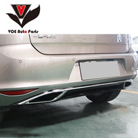 Golf 7 Rear Bumper Spoiler Rear Diffuser Protector Lip for Volkswagen Golf 7 2013 2019