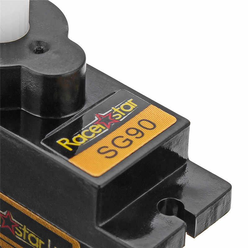 5/10 pcs Racerstar SG90 9g Micro engrenage en plastique Servo analogique pour RC hélicoptère avion Robot pièces de rechange accessoires de bricolage