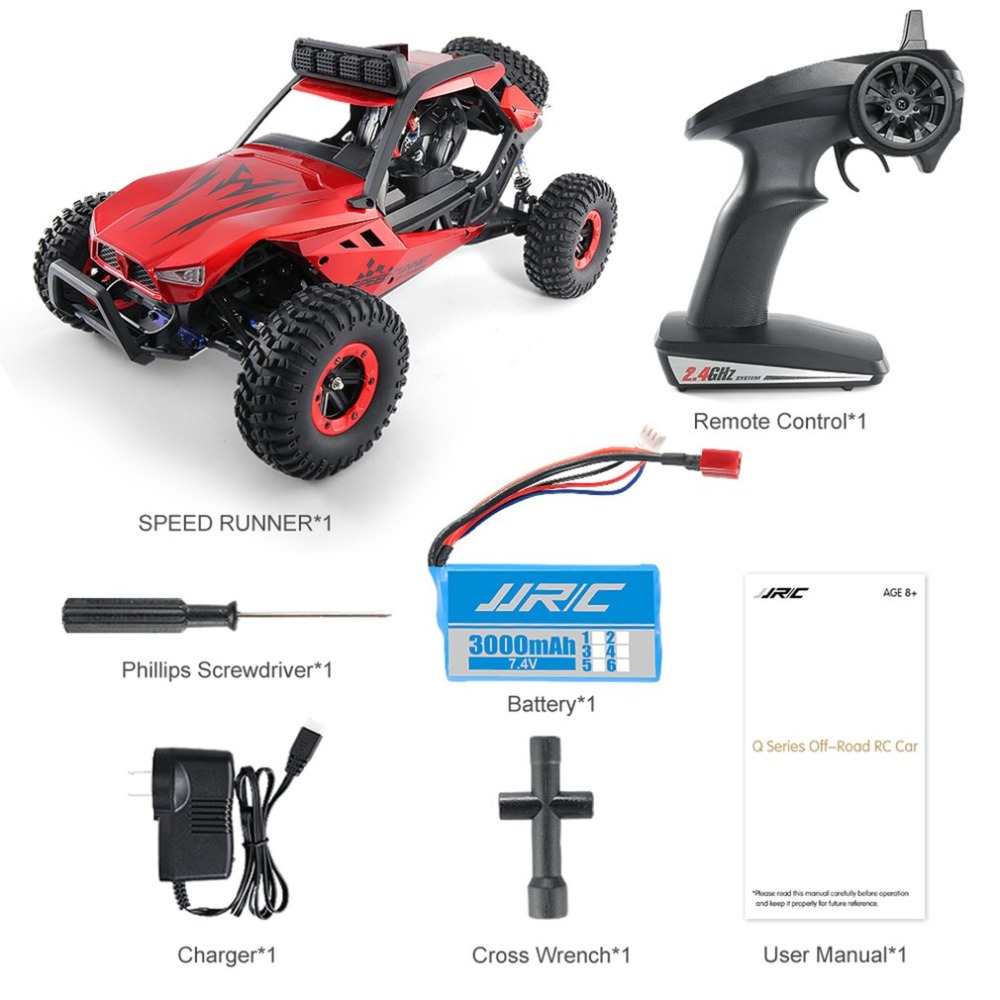 JJRC Q46 1/12 2.4G Remote Control 4CH Off Road Buggy Crawler 45km/h High Speed RC Car 4-wheel Drive Climber Car Model Toys Hobby 1 12 high speed car ratio control 2 4 ghz all wheel drive model 4x4 driving car assebled buggy vehicle toy