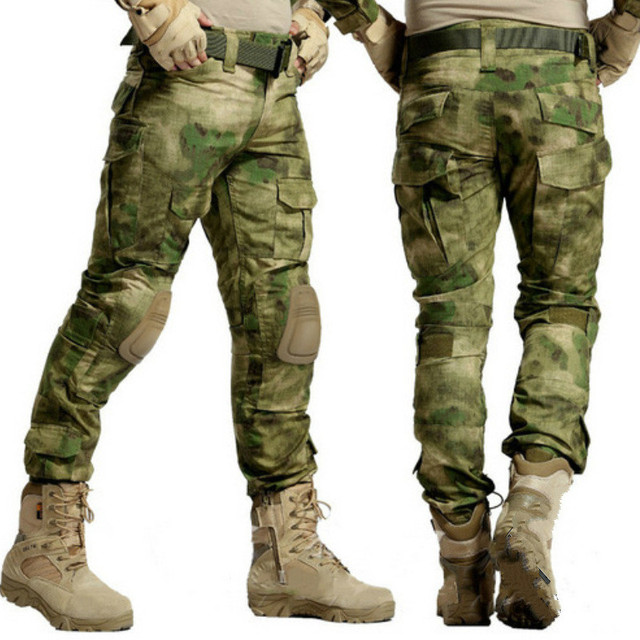 Camouflage Tactical Military Clothing Mens Army Cargo Pants Combat Trousers  Multicam Militar Tactical Pants with Knee Pads e773a49cce3b