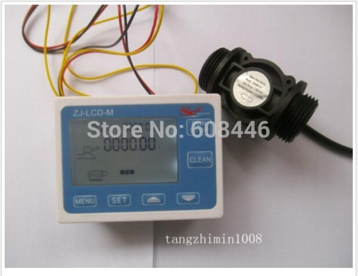 G1 Flow Water Sensor Meter+Digital LCD Display control