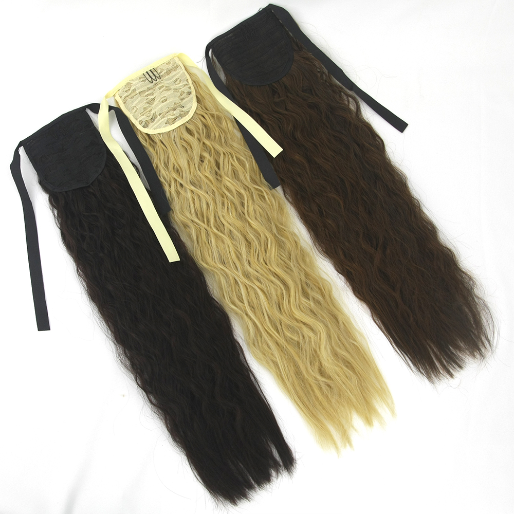 Logical Soowee Long Kinky Curly Hair Pony Tail Hairpieces Drawstring Ponytails Synthetic Clip In Hair Extension Hairpins The Canopy Synthetic Extensions