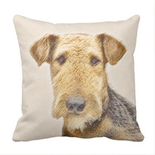 Airedale Terrier Throw Pillow case