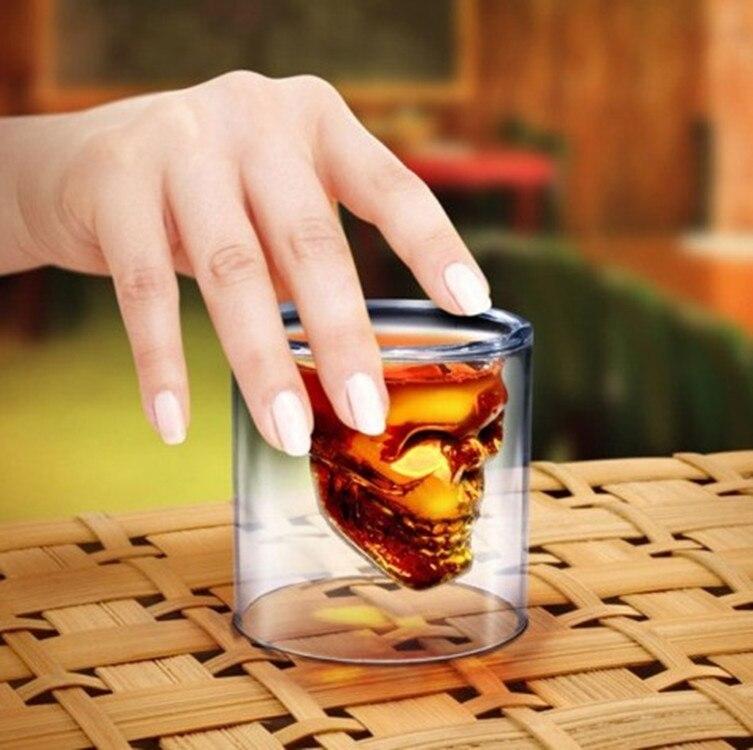 75 ml Clair En Verre Crystal Skull Head Vodka Vin Tasse Tasse ...