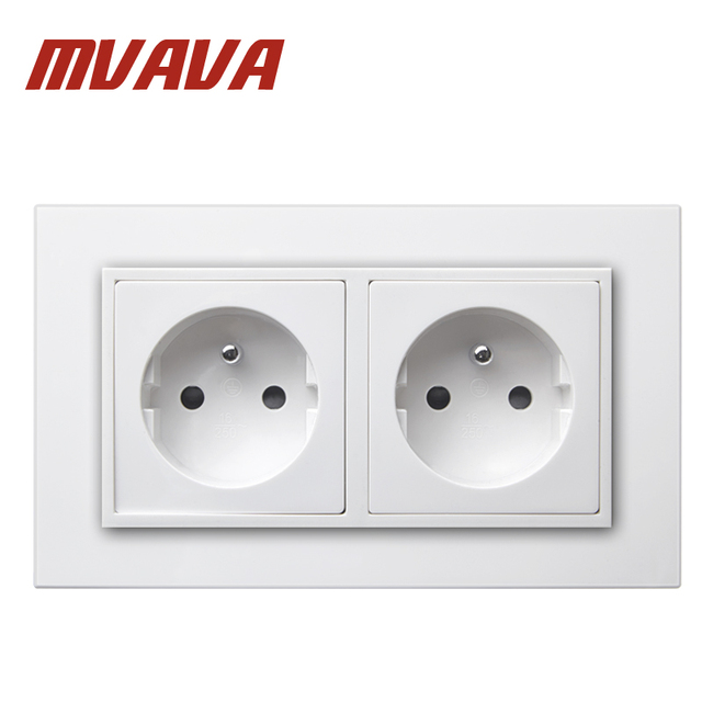 MVAVA 16A Double FR Standard Socket Dual AC 250 V Electrical Outlet ...