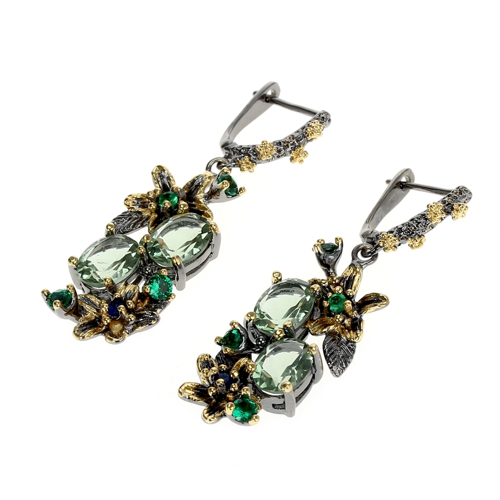 WE3874 vintage luxury zirconia  drop earrings women (3)