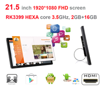 HEXA Core 21 5 Inch Android Smart Kiosk Digital Signage Display All In One Pc RK3399