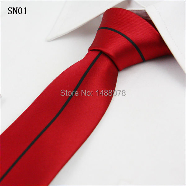 Black Striped Red Ties 2M8-5