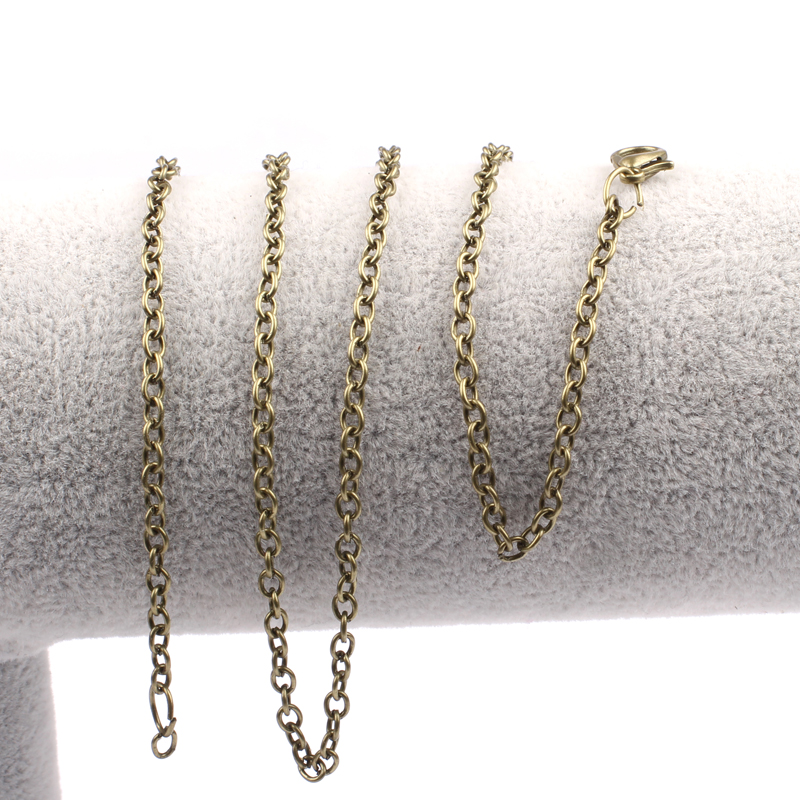 Reidgaller 10 unids 60 cm largas cadenas de collar de bronce antiguo de la vendi