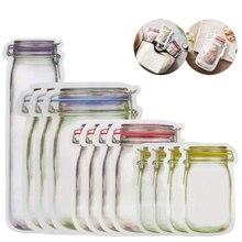 Креативная масонская бутылка Ziplock сумка Портативная герметичная прозрачная сумка для хранения еды закуска влаги сумка для хранения на кухне A10924
