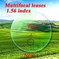 Progressive lenses 1.56 index Multifocal lenses CR39 HMC EMI UV myopia presbyopia optical reading glasses computer bifocal lens