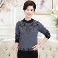 Venda quente Nova Chegada Das Mulheres Suéter de Lã Camisola Feminina Em Torno Do Pescoço Grosso Pulôver Quente Malha Plus Size Camisola