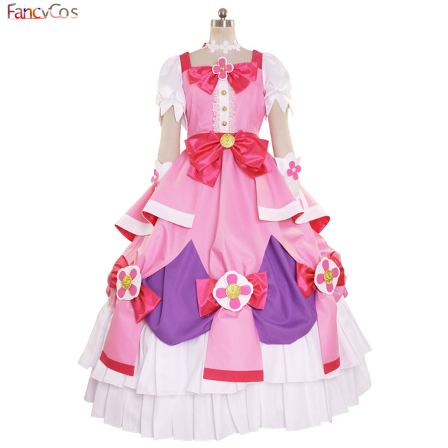 Halloween Women s Go! Princess PreCure Cure Flora Party Dress Costume  Cosplay adult costume movie High Quality Deluxe ad6f4e277382