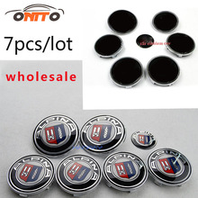 Wholesale 10set 7pcs Car Front Hood Emblem Auto Rear Trunk Badge Head Bonnet label Boot Logo 82MM 74MM 68MM 45MM