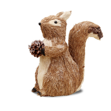 Creative Cute Squirrel Model Chip Forest Animal Small Statue Figurine Craft Figure Ornament Miniatures Christmas Tree Decoration