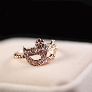 Accessories vintage mask silver   ring female finger ring pinky ring