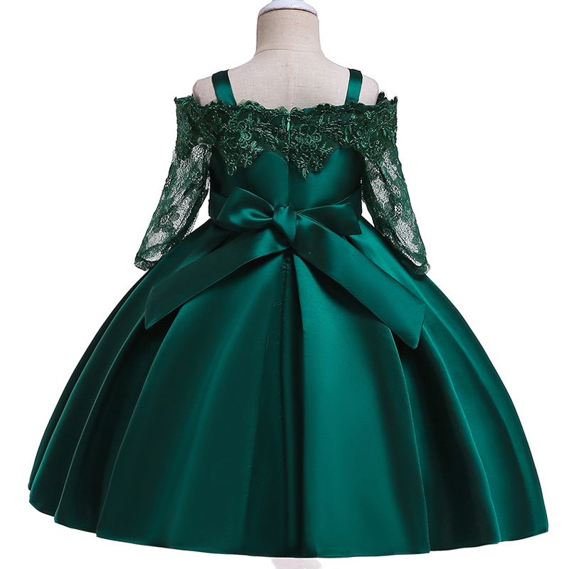 HTB1TuZYKFzqK1RjSZFvq6AB7VXau Kids Dresses For Girls Elegant Princess Dress Christmas Children Evening Party Dress Flower Girl Wedding Gown vestido infantil