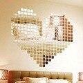 100 Peças Espelho Telha Popular DIY Adesivo De Parede 3D Decalque mosaico Casa Decoração do Quarto Casa Vara Para Quartos Modernos Livre grátis