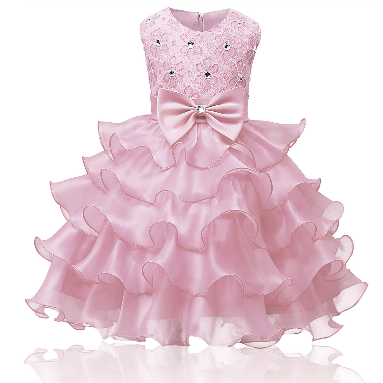 Flower Girl Dress for Wedding Baby Girl 3-8 Years Birthday Outfits Children's Girls First Communion Dresses Girl Kids Party Wear 2017 new beading lace v neck flower girl dress baby prom girls dress holy first communion dress kids birthday princess dresses