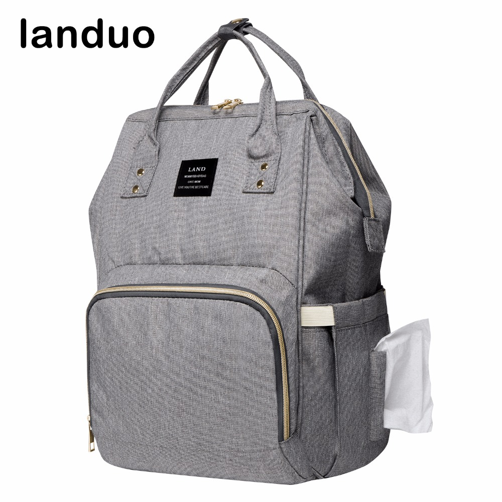 landuo LAND Diaper Bag Fashion Nursing Bag Mummy Maternity Bag Designer Stroller Baby Care Nappy Bag все цены