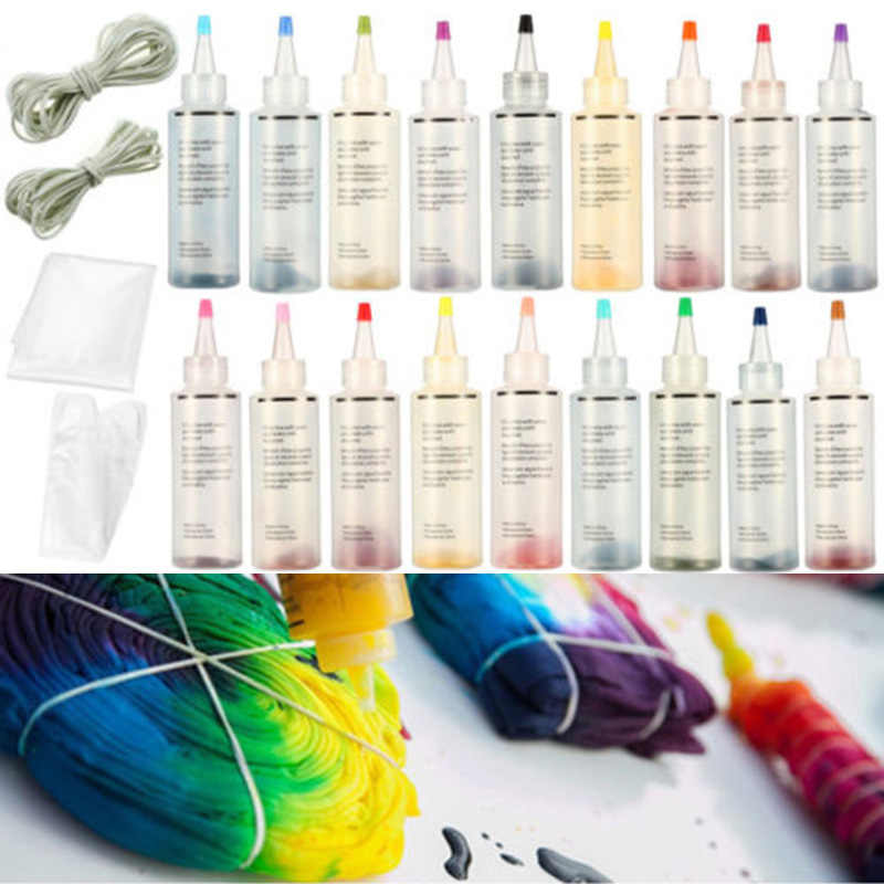 Tatuaje tinta tinte corbata te ptie tela botella arte textil pigmento permanente tela pintura colores