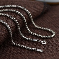 and Thai silver restoring ancient ways process necklaces wholesale couples jewelry silver box chain pendant with chain
