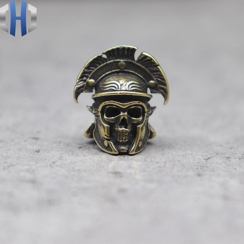 4Pcs EDC Couteau perles laiton Bouddha Lanyard Bead Paracord BRICOLAGE Keychain Pendentif