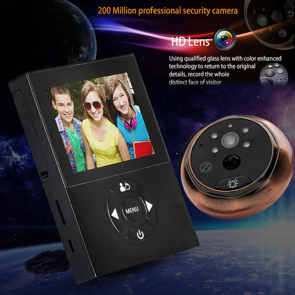 Smart Visual Doorbell Peephole Viewer 3 Inch Infrared Night Vision 160 Degrees Wide Angle Security LCC77Smart Visual Doorbell Peephole Viewer 3 Inch Infrared Night Vision 160 Degrees Wide Angle Security LCC77